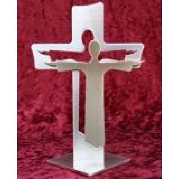 """Standkreuz """"Auferstehungskreuz"""" - groß; mit Jesus davor"""