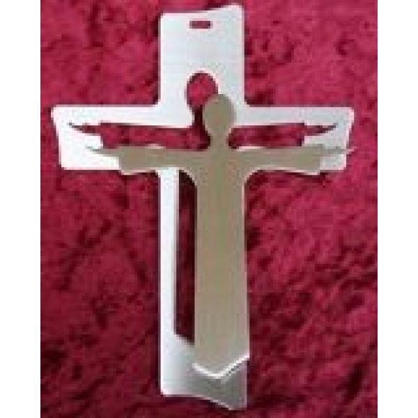 """Wandkreuz """"Auferstehungskreuz"""" - mit Jesus davor"""