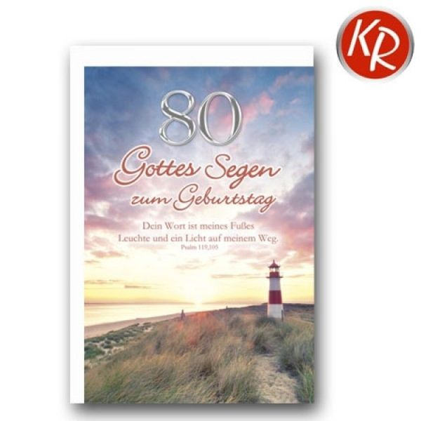 Faltkarte - Zum 80. Geburtstag