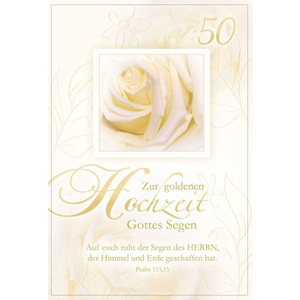 Faltkarte Goldene Hochzeit Psalm 11515