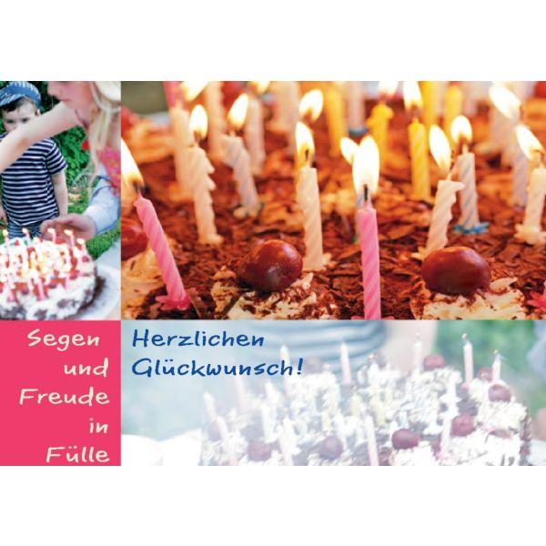 """Postkarte """"Herzlichen Glückwunsch..."""" - 5 Stück"""