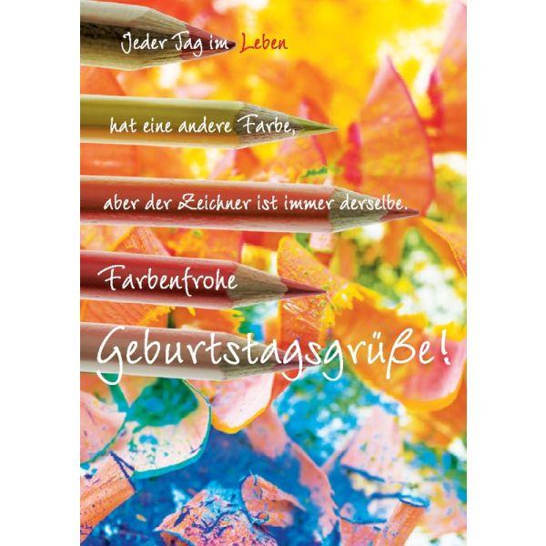 "Postkarte ""Jeder Tag im Leben..."" - 5 Stück"