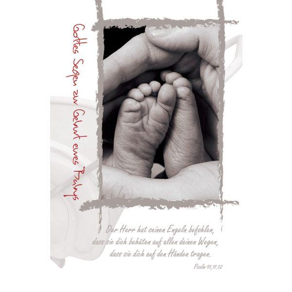 "Faltkarte ""Gottes Segen zur Geburt eures Babys"" - 5 Stück"