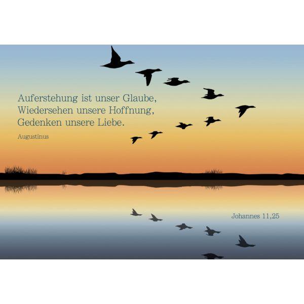 """Faltkarte """"Auferstehung ist unser Glaube"""" - 5 Stk."""