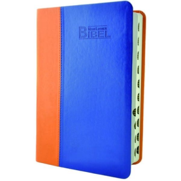 Lutherbibel mit Griffregister - orange/blau