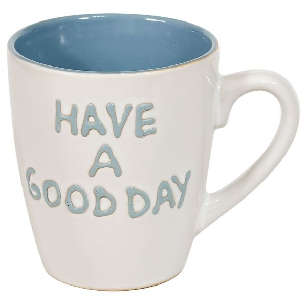 "Tasse S ""have a good day"" - weiß/blau"