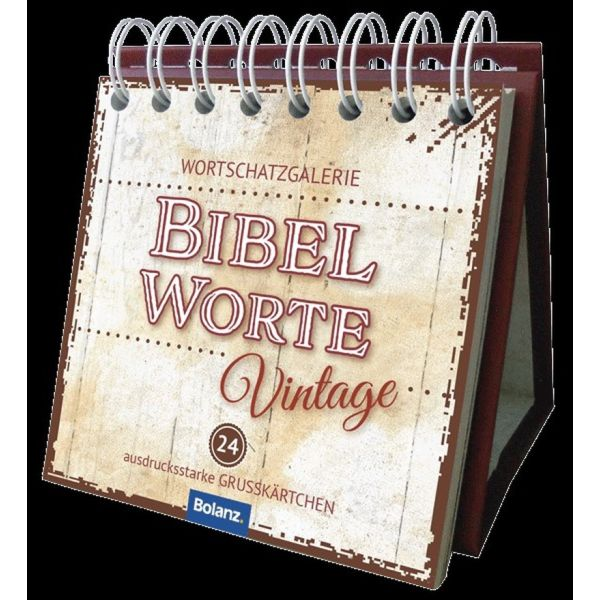 Bibelworte Vintage - Miniaufstellbuch