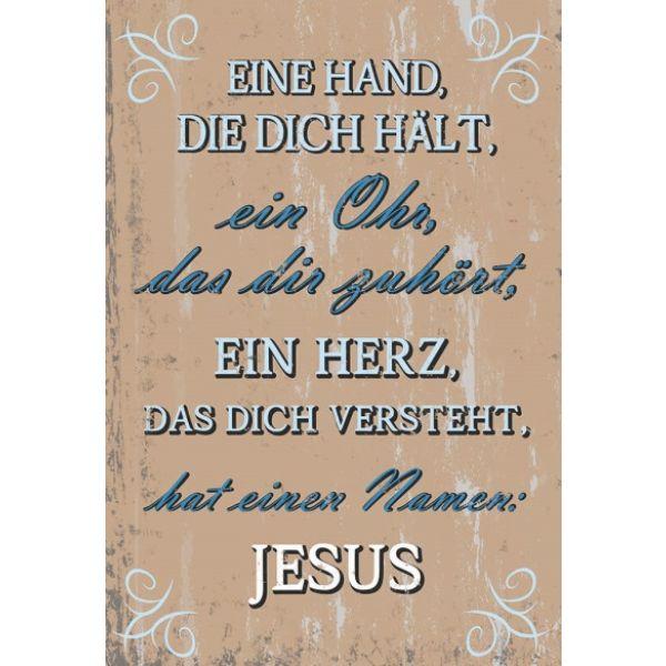 Wandschmuckschild - Eine Hand, die dich hält