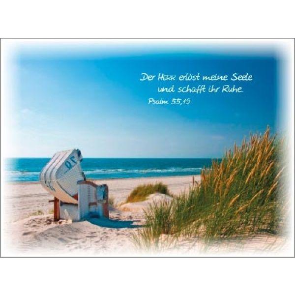 Postkartenserie Strandkorb - 12 Stück