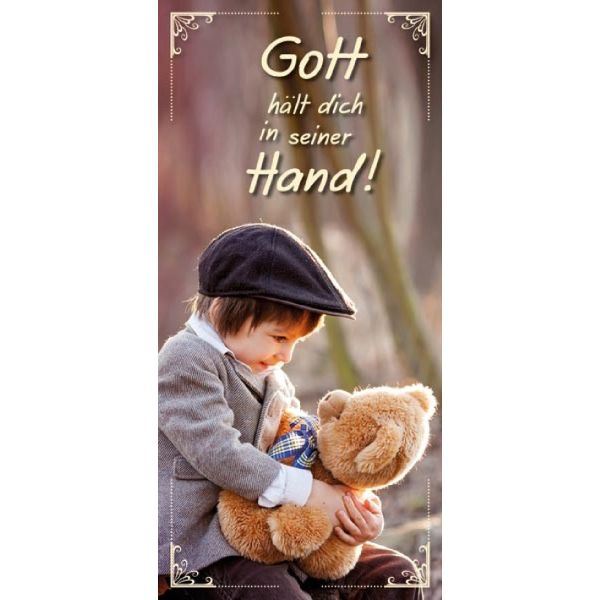 Magnetlesezeichen - Gott hält dich in seiner Hand!