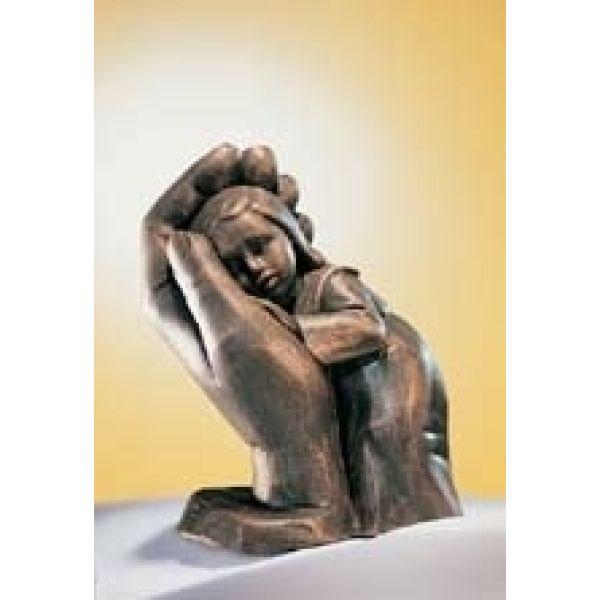 Bleib sein Kind - Plastik bronzefarbig