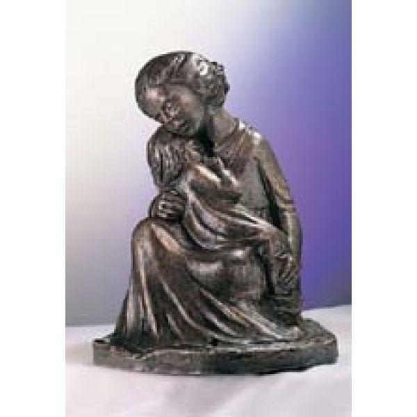 Mutterliebe - Bronzefarbener Steinguss