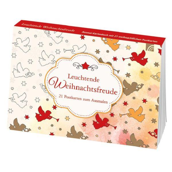 Leuchtende Weihnachtsfreude - Ausmal-Postkarten