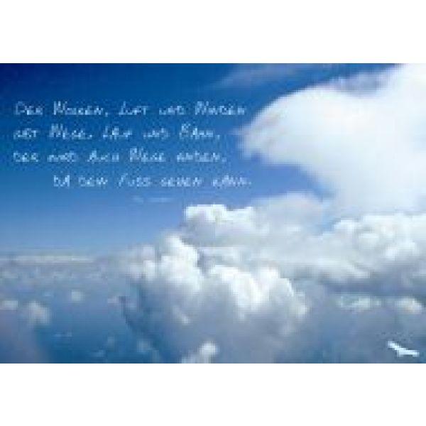 Der Wolken, Luft und Winden ... - Faltkarte