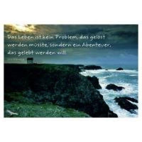 Das Leben ist kein Problem ... - Postkarte