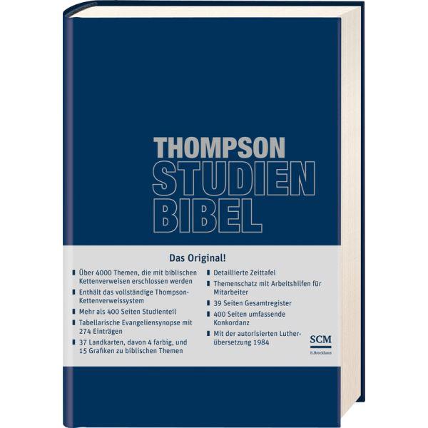 Thompson Studienbibel - ital. Kunstleder, blau