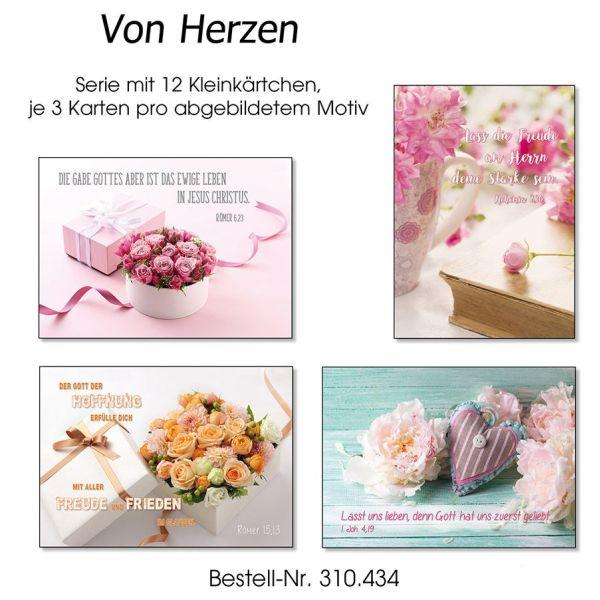 Kleinkärtchenserie Blumen, 12 Stück