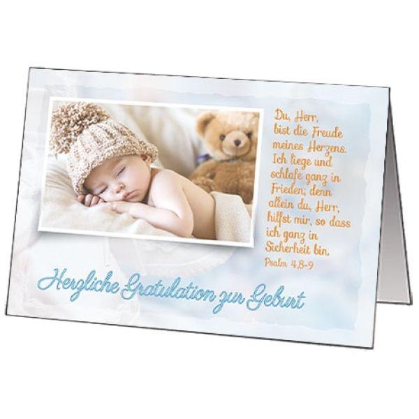 Faltkarten Geburt, 5 Stück