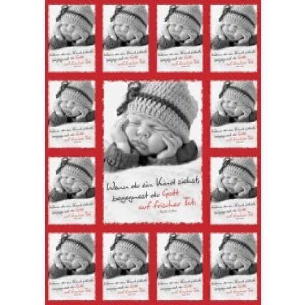 Aufkleber-Gruß-Karten: Wenn du ein Kind siehst - 4 Stück