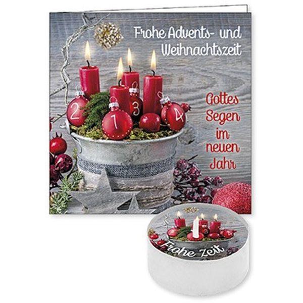 """Lichtgruß """"Frohe Advents- und Weihnachtszeit"""""""