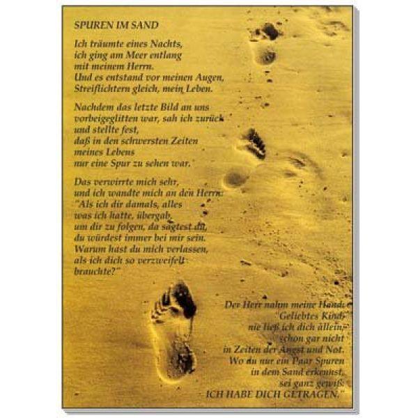 Postkarten: Spuren im Sand, 12 Stück