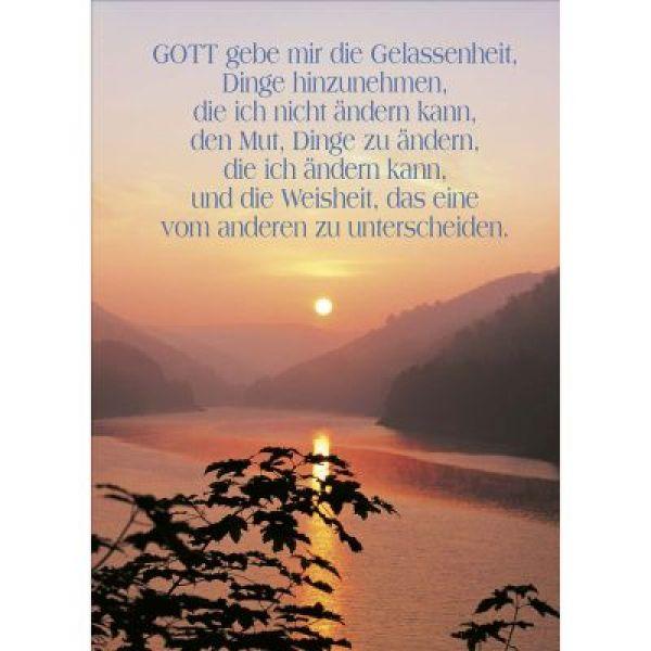 Postkarten: Gott gebe mir die Gelassenheit, 12 Stück