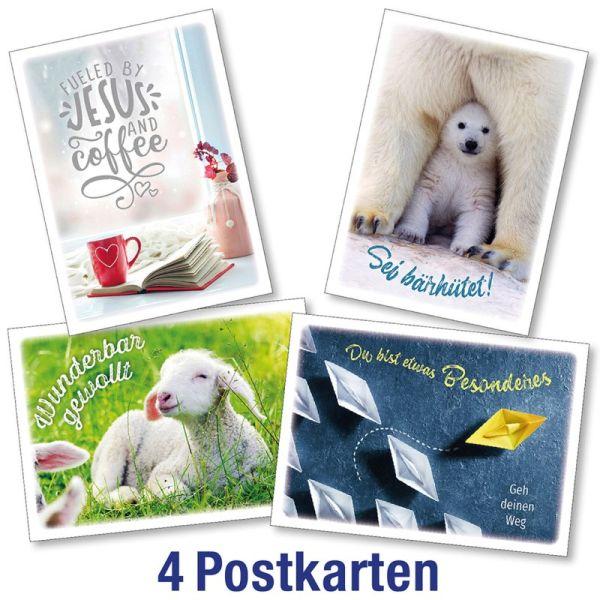 Postkartenserie: InMotion - gemischte Motive 4 Stk.