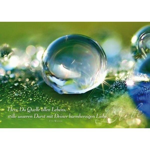 Postkarten: Herr, du Quelle des Lebens, 4 Stück