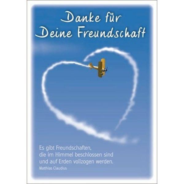 Postkarten: Danke für deine Freundschaft, 4 Stück
