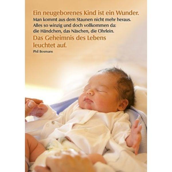 Postkarten: Ein neugeborenes Kind, 4 Stück