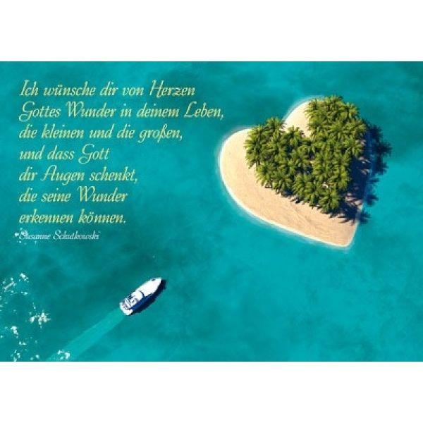 Postkarten: Ich wünsche dir von Herzen 4 Stück