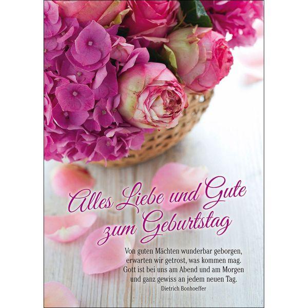 Postkarten: Alles Liebe und Gute zum Geburtstag, 4 Stück