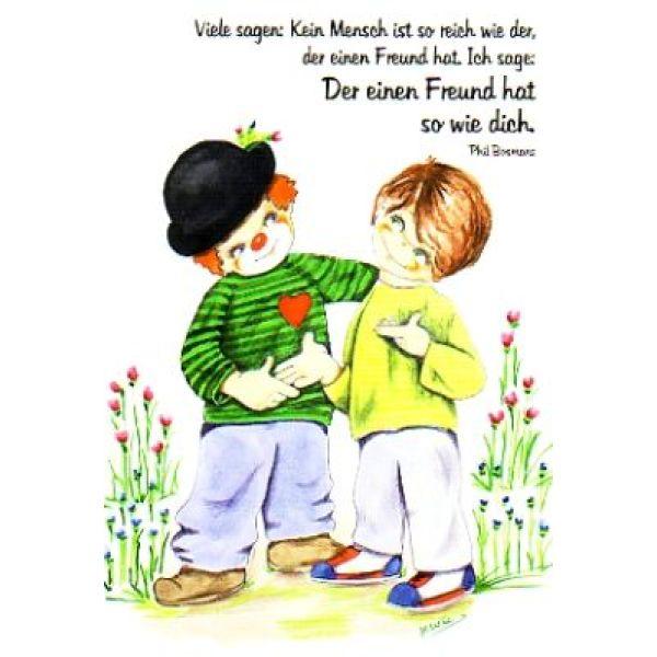 Postkarten: Der einen Freund hat, so wie dich, 4 Stück
