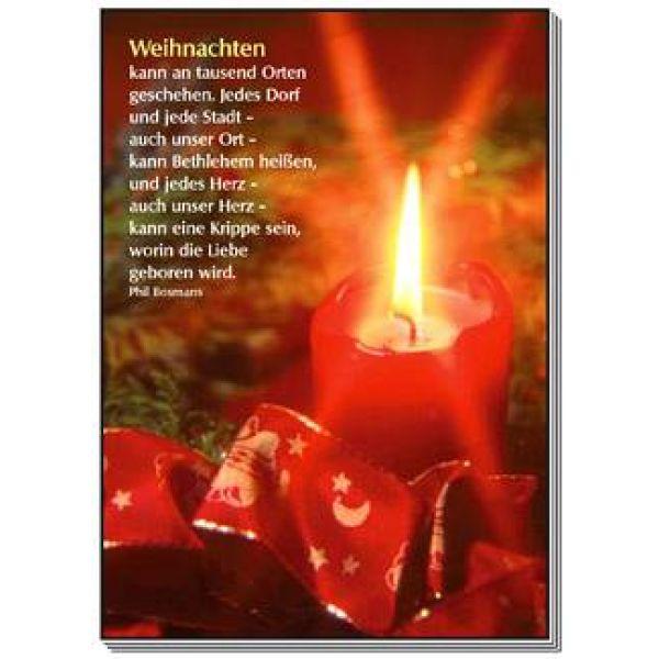 Postkarten: Weihnachten kann an tausend Orten geschehen, 4 Stück