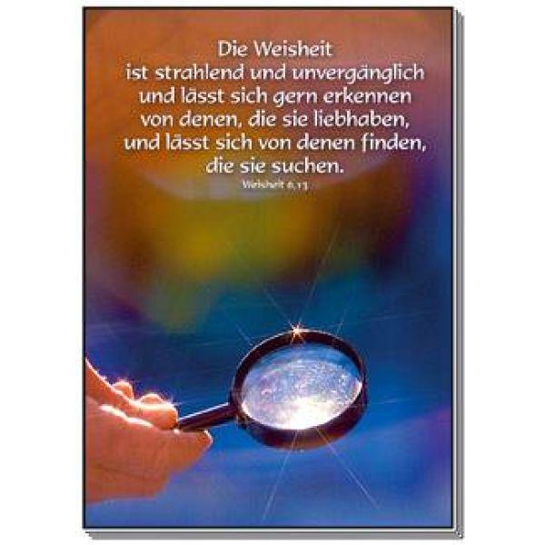 Postkarten: Die Weisheit ist strahlend, 4 Stück