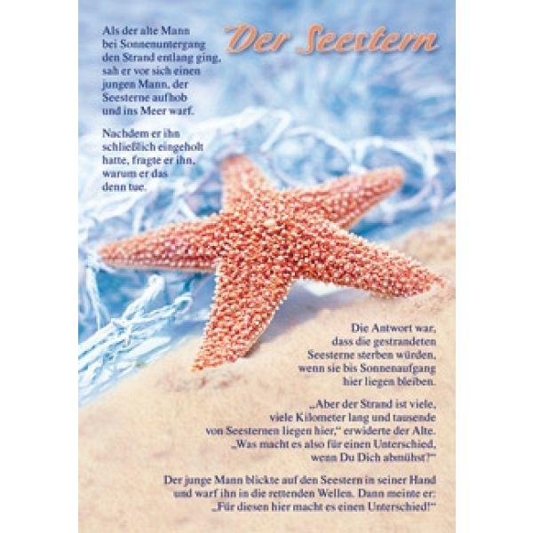 Postkarten: Der Seestern, 4 Stück