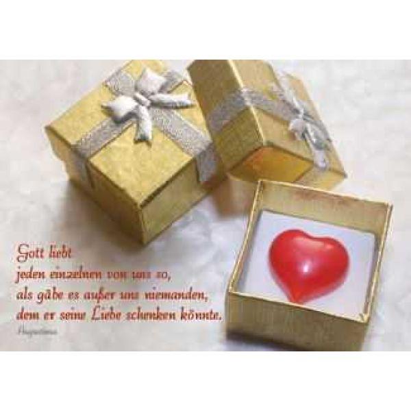 Postkarten: Gott liebt jeden einzelnen von uns, 4 Stück