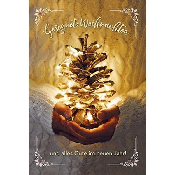Postkarten: Gesegnete Weihnachten, 4 Stück
