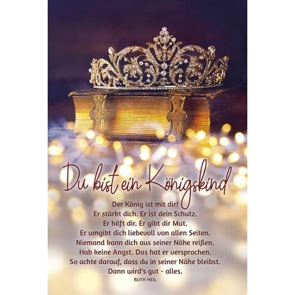 Faltkarte: Du bist ein Königskind - neutral