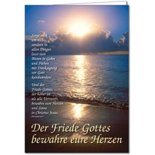 Faltkarte: Der Friede Gottes bewahre eure Herzen - Geburtstag