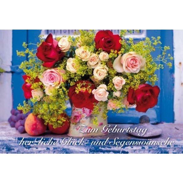Faltkarte: Zum Geburtstag herzliche Glück- und Segenswünsche