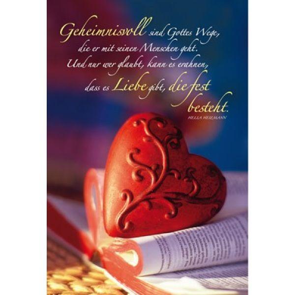 Faltkarte: Geheimnisvoll sind Gottes Wege - Geburtstag
