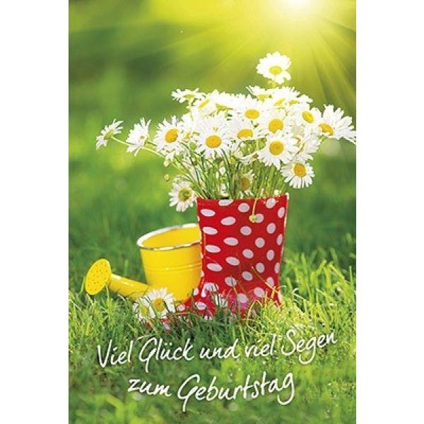 Faltkarte: Viel Glück und viel Segen zum Geburtstag