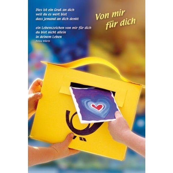 Faltkarte: Von mir für dich - Geburtstag