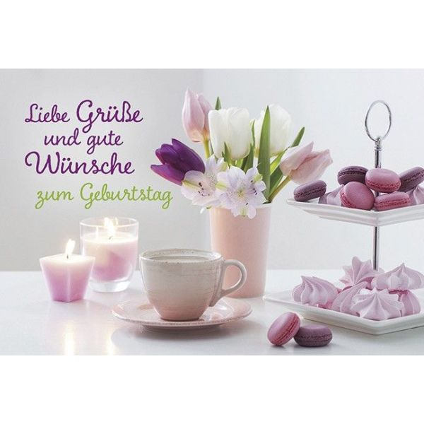 Faltkarte: Liebe Grüße - Geburtstag