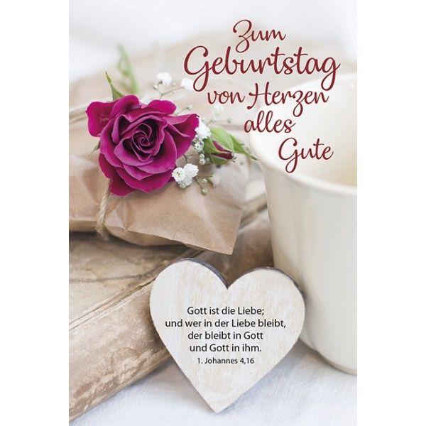 Faltkarte: Zum Geburtstag von Herzen alles Gute