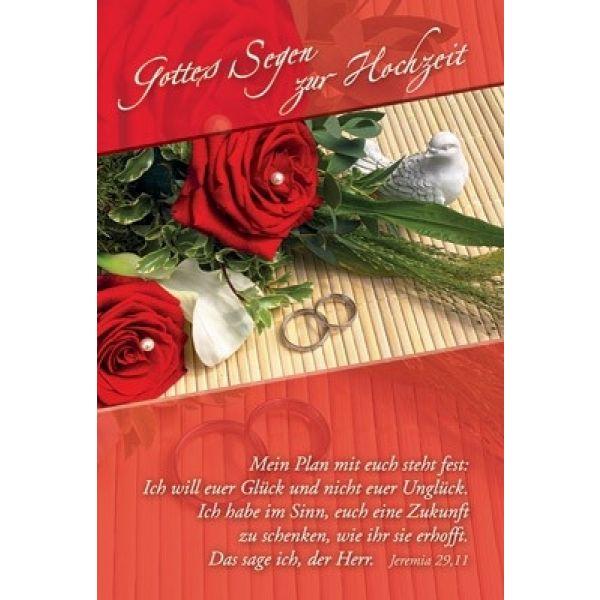 Faltkarte: Gottes Segen zur Hochzeit