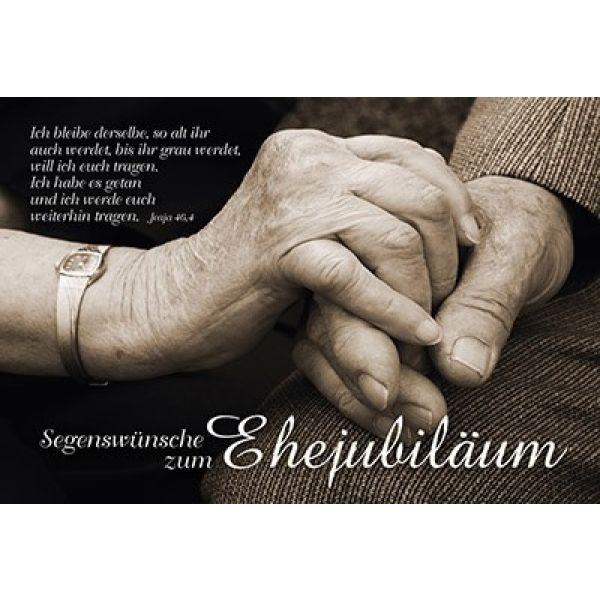 Faltkarte: Segenswünsche zum Ehejubiläum