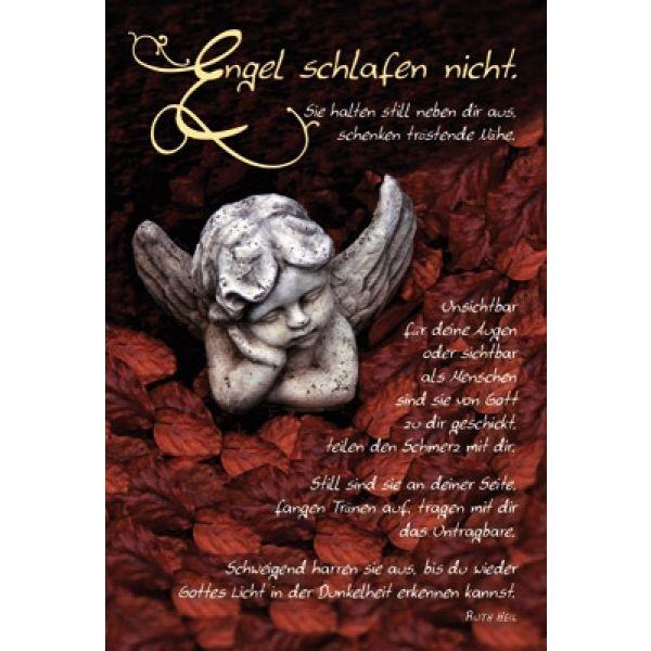 Faltkarte: Engel schlafen nicht - Trauer