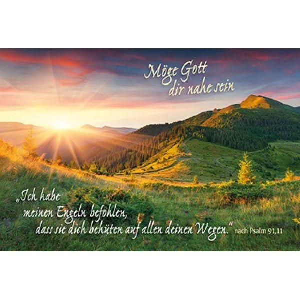 Faltkarte: Ich habe meinen Engeln befohlen - Trauer